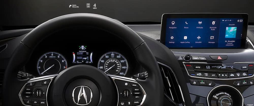2020 Acura RDX interior with dashboard