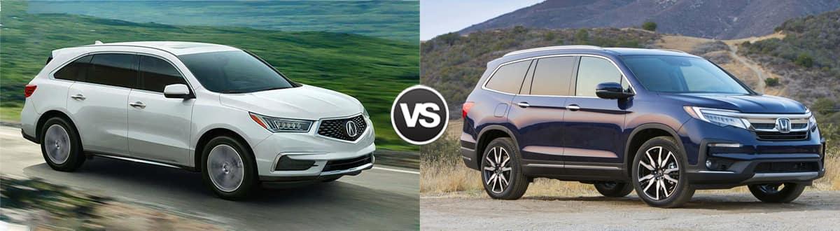 2020 Acura MDX vs 2020 Honda Pilot