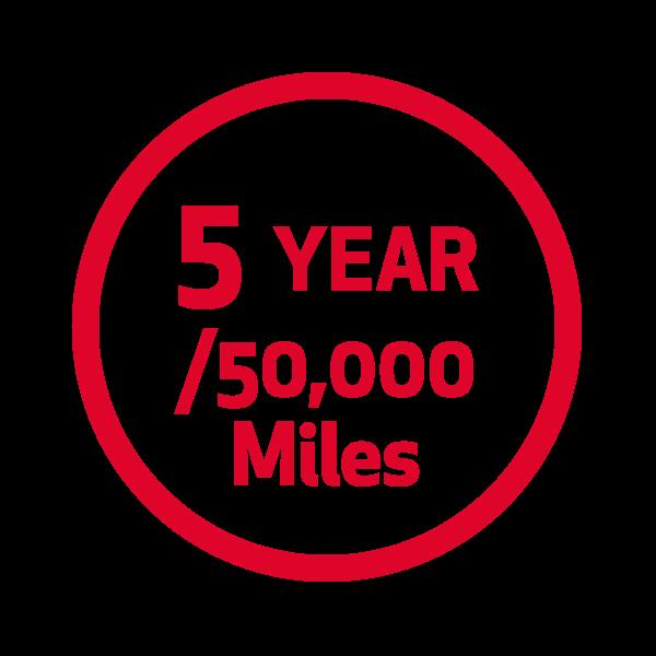 5 Year/50K Miles