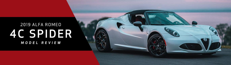 2019 Alfa Romeo 4C Spider Model Overview at Alfa Romeo Akron