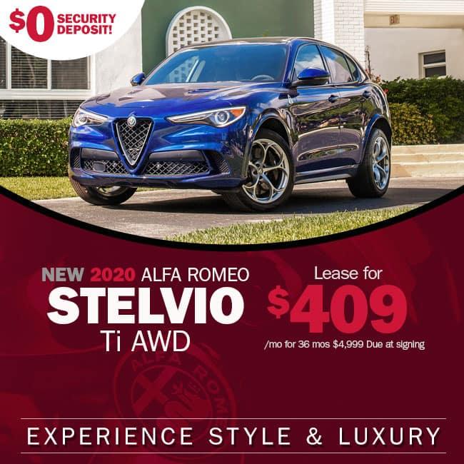 NEW 2020 Alfa Romeo Stelvio TI AWD