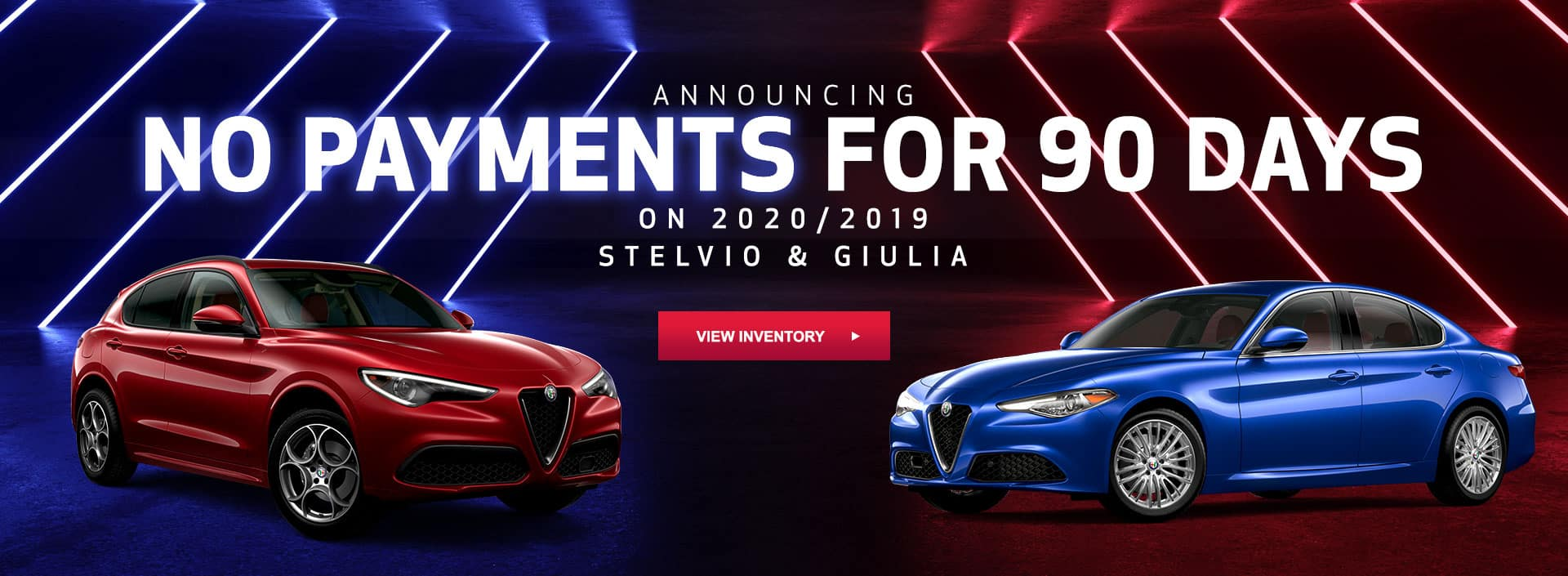 no payments for 90 days on stelvio and giulia