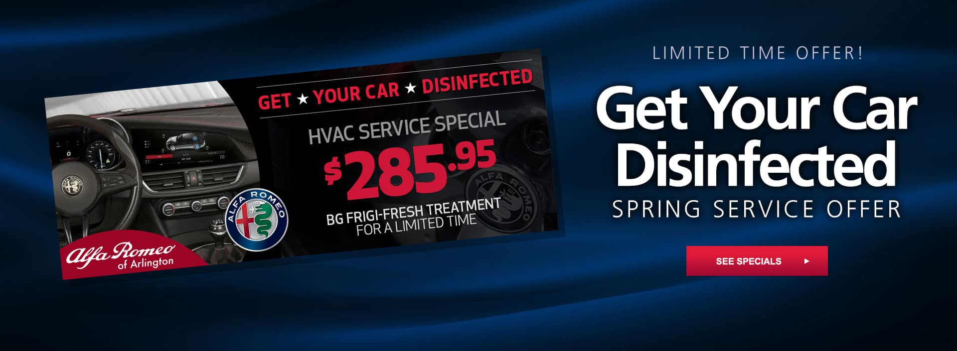 get your car disinfected special
