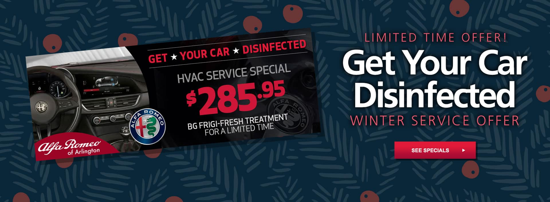 Get your car disinfected