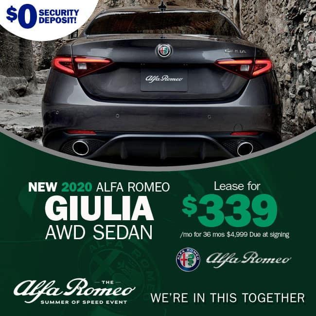 NEW 2020 ALFA ROMEO GIULIA AWD