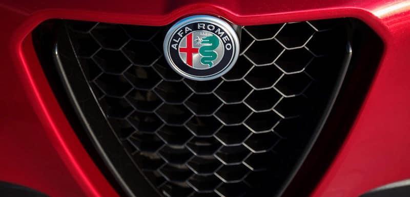Alfa Romeo Stelvio grille logo