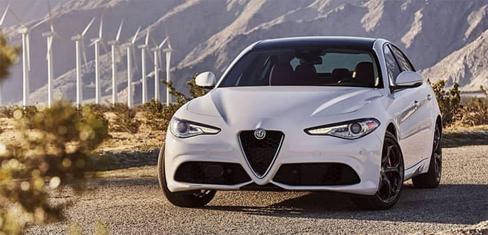 Alfa Romeo Giulia Parked on side of Road