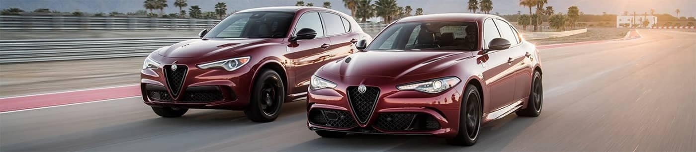 Alfa Romeo Models Driving Side by Side