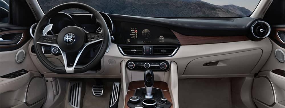 Alfa Romeo Giulia Interior Dashboard Features