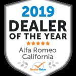 2019 DealerRater Alfa Romeo Dealer of the Year