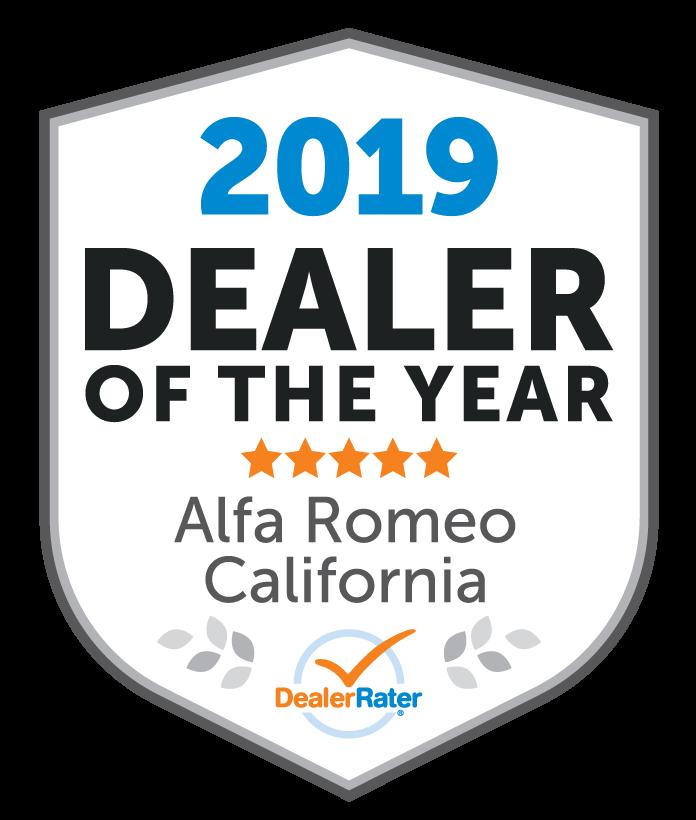 2019 DealerRater Alfa Romeo Dealer of the Year CA