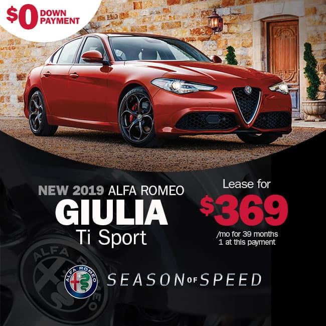 NEW 2019 ALFA ROMEO GIULIA TI SPORT RWD