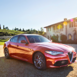 A new Alfa Romeo Giulia purchased after the owners determined how much it would cost.
