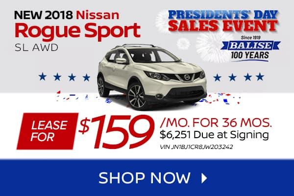 New 2018 Nissan Rogue Sport SL AWD