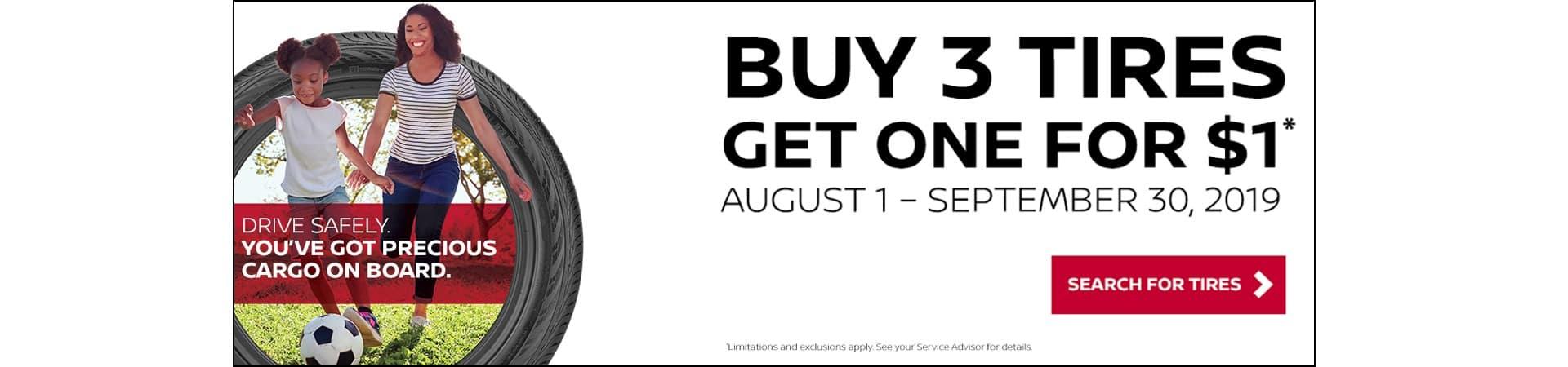 Nissan Tires Sale August 2019