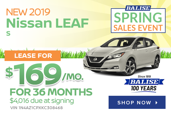 New 2019 Nissan LEAF S