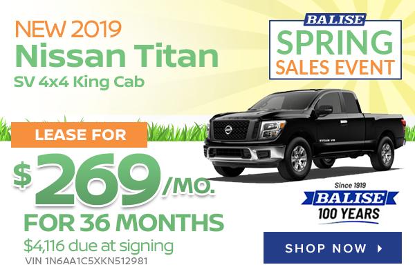 New 2019 Nissan Titan SV 4x4 King Cab