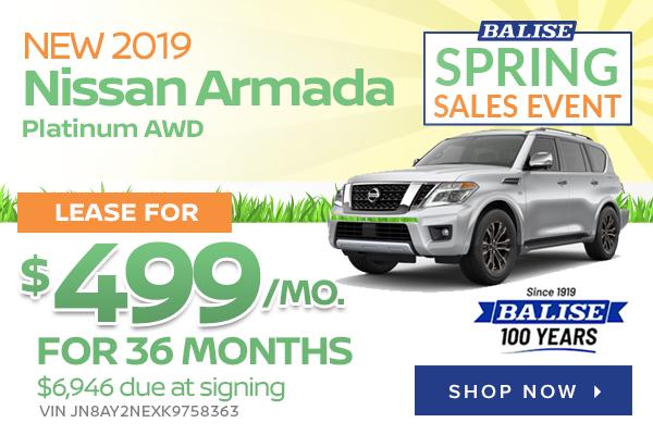New 2019 Nissan Armada Platinum AWD