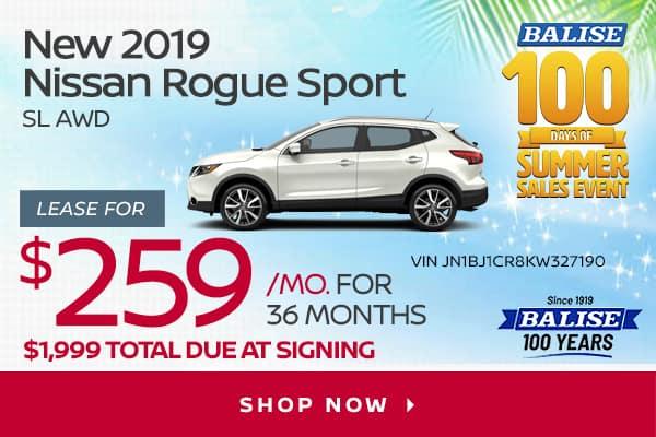 New 2019 Nissan Rogue Sport SL AWD