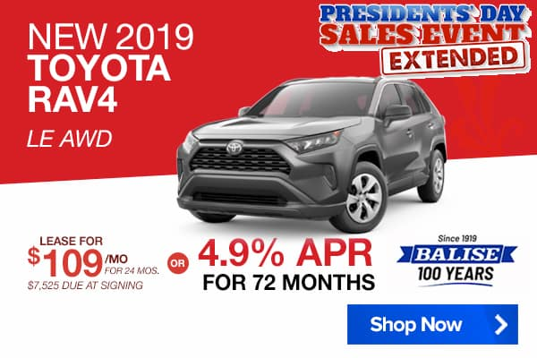 New 2019 Toyota RAV4 LE AWD