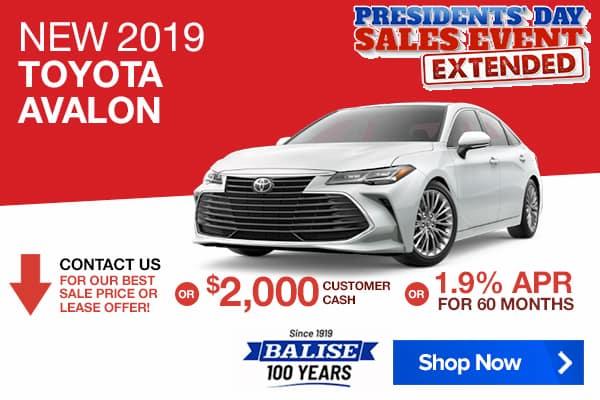 New 2019 Toyota Avalon