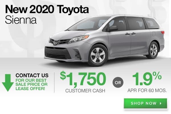 New 2020 Toyota Sienna