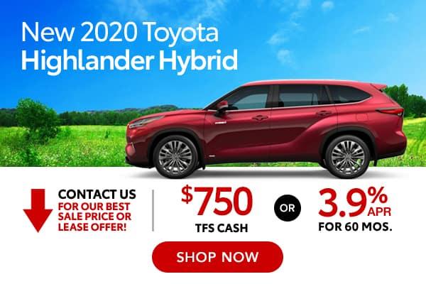 New 2020 Toyota Highlander Hybrid