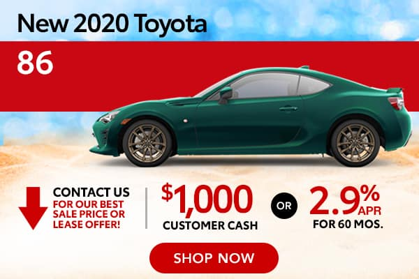 New 2020 Toyota 86