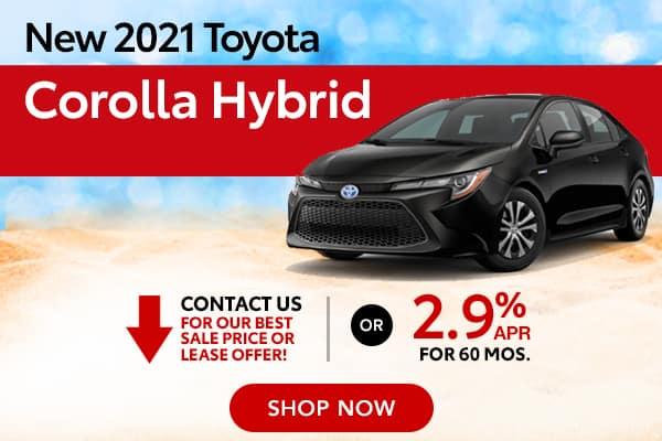 New 2021 Toyota Corolla Hybrid