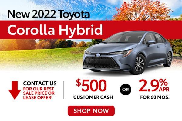New 2022 Toyota Corolla Hybrid
