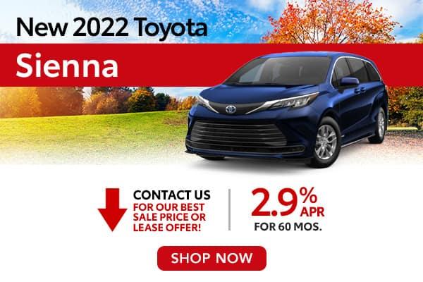 New 2022 Toyota Sienna