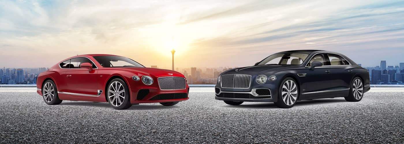 New Bentley Continental GT V8 Coupe with New Bentley Flying Spur Sedan