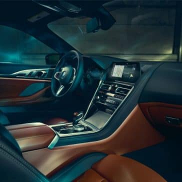 Interior photo showing the 2019 BMW 8 Series Driver's Seat and Passenger Seat.