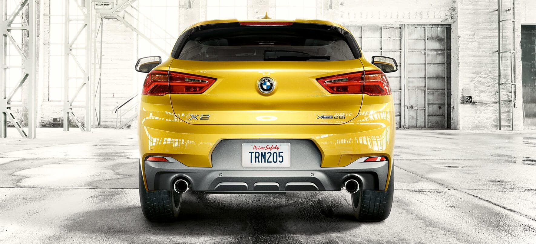 Rear view of the 2019 BMW X2.