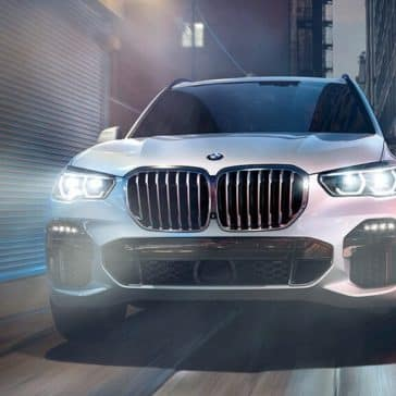 Front view of the grille of the 2020 BMW X5.