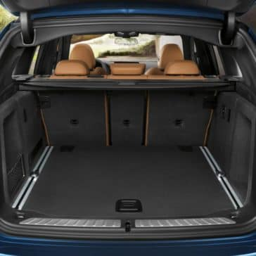 An interior picture of the 2019 BMW X3 showing the cargo space in the rear of the vehicle.