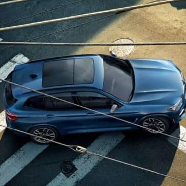 Aerial view of the BMW X3.