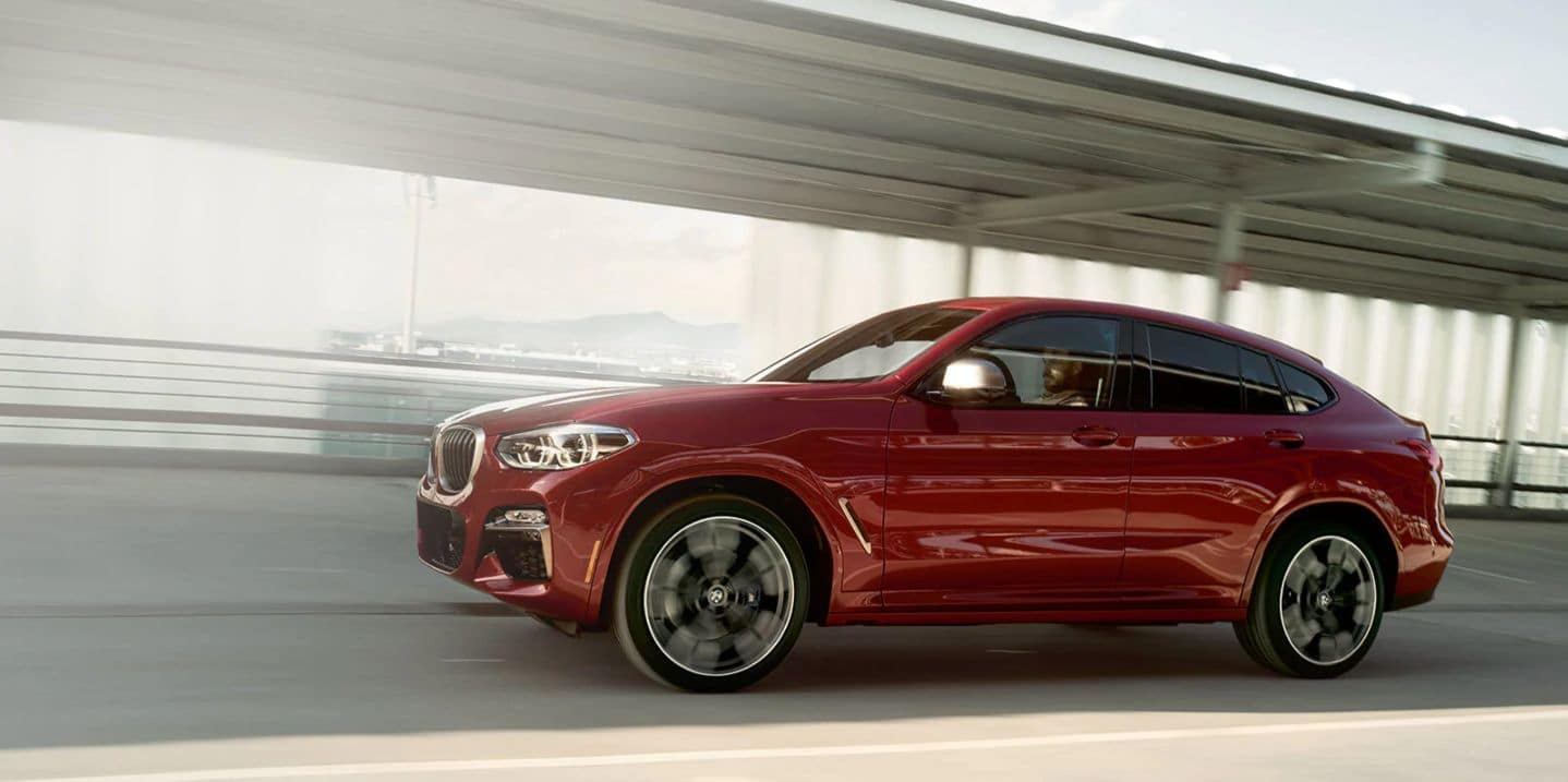 Side view of the 2019 BMW X4.