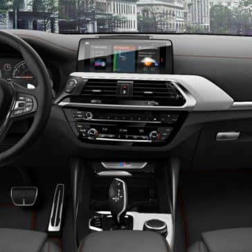 Interior picture of the 2019 BMW X4 showing the cockpit.