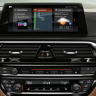 A close-up view of the BMW 5 Series navigation pane.