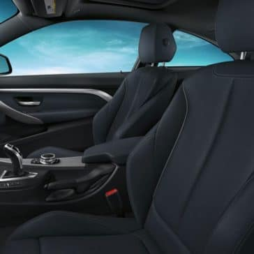 An interior shot of the 2019 BMW 4 Series cockpit.
