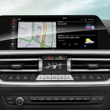 An interior photo of the 2019 BMW 3 Series showing the navigation pane.