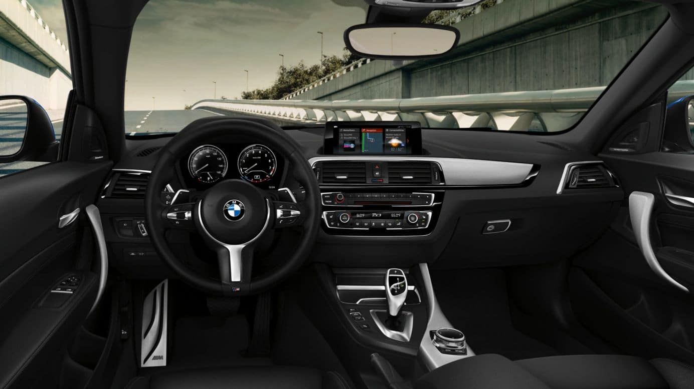 An interior picture showing the BMW 2 Series dashboard.