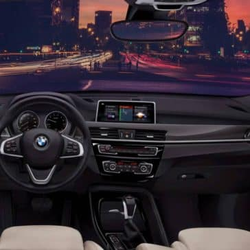 An interior picture of the 2019 BMW X1 showing the dashboard.