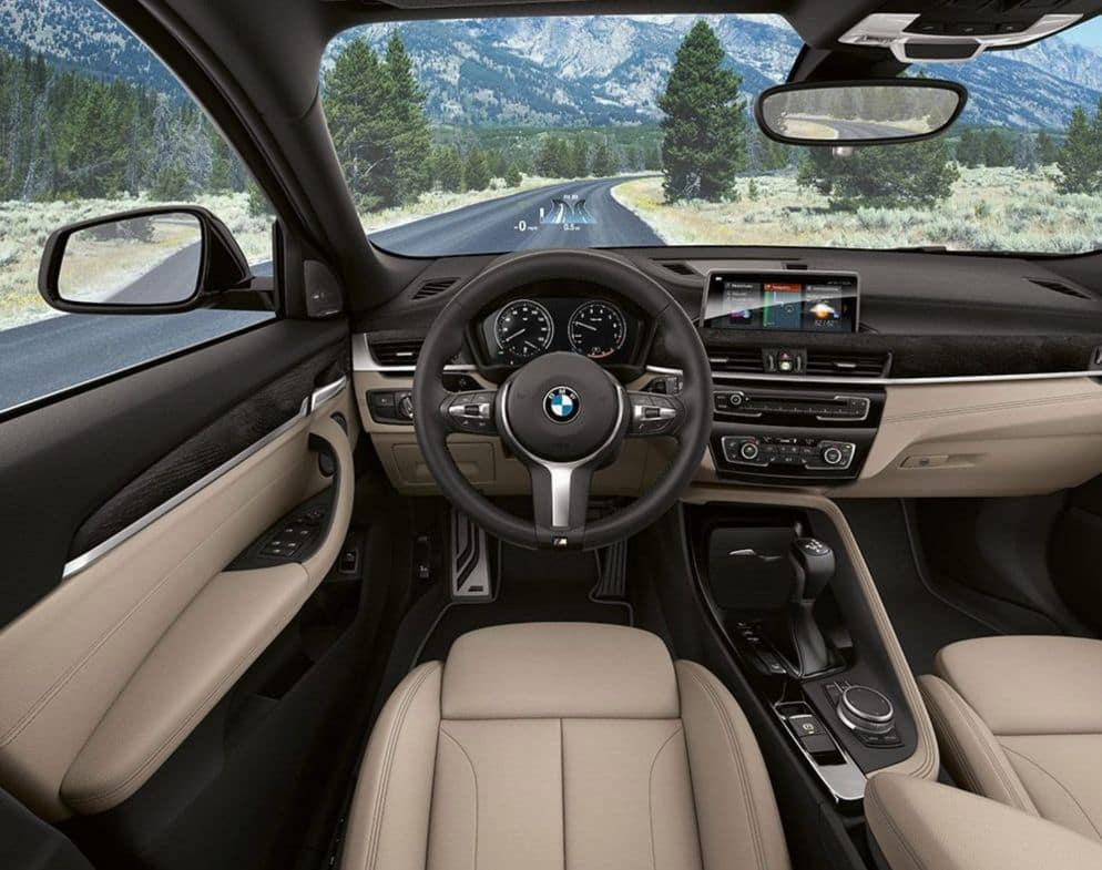 An interior picture of the 2019 BMW X2 showing the dashboard.