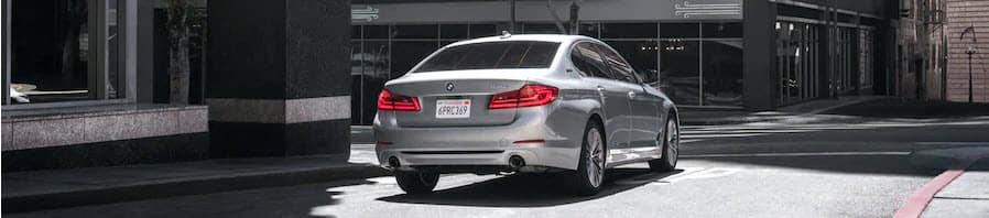 Back-End of Silver BMW 5 Series Manhattan NY