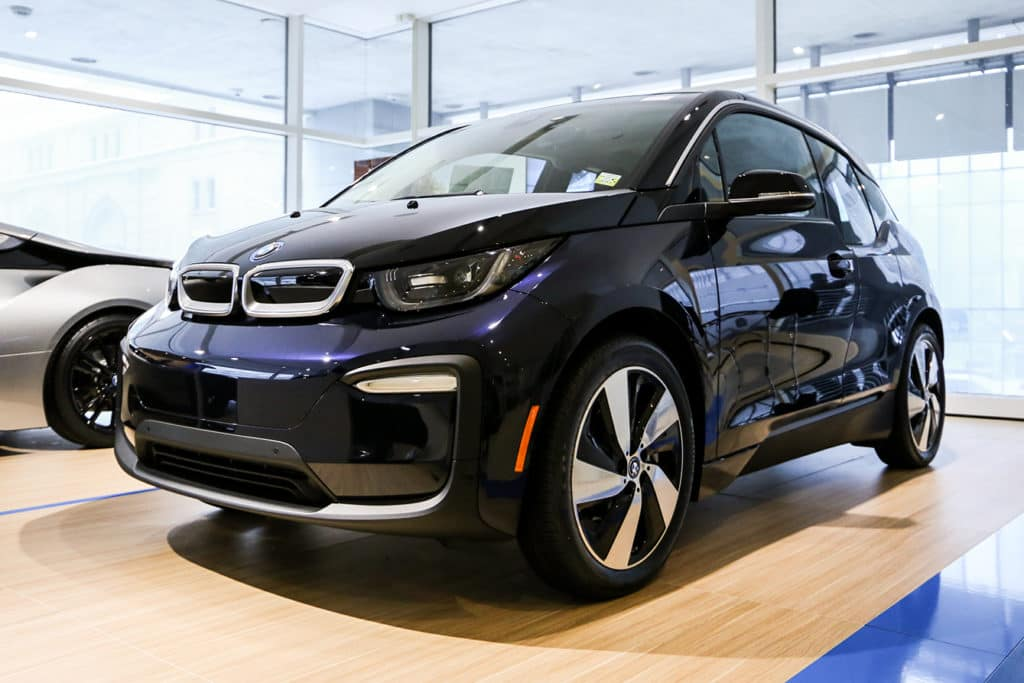 2018 Imperial Blue BMW i3 w/ Range Extender