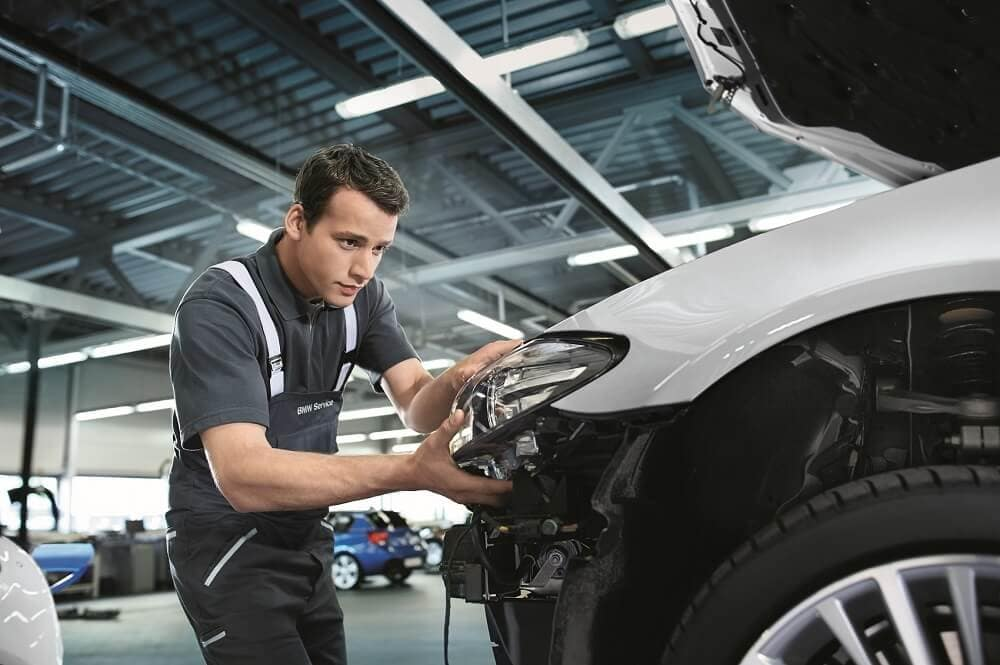 Repairing BMW at Service Center