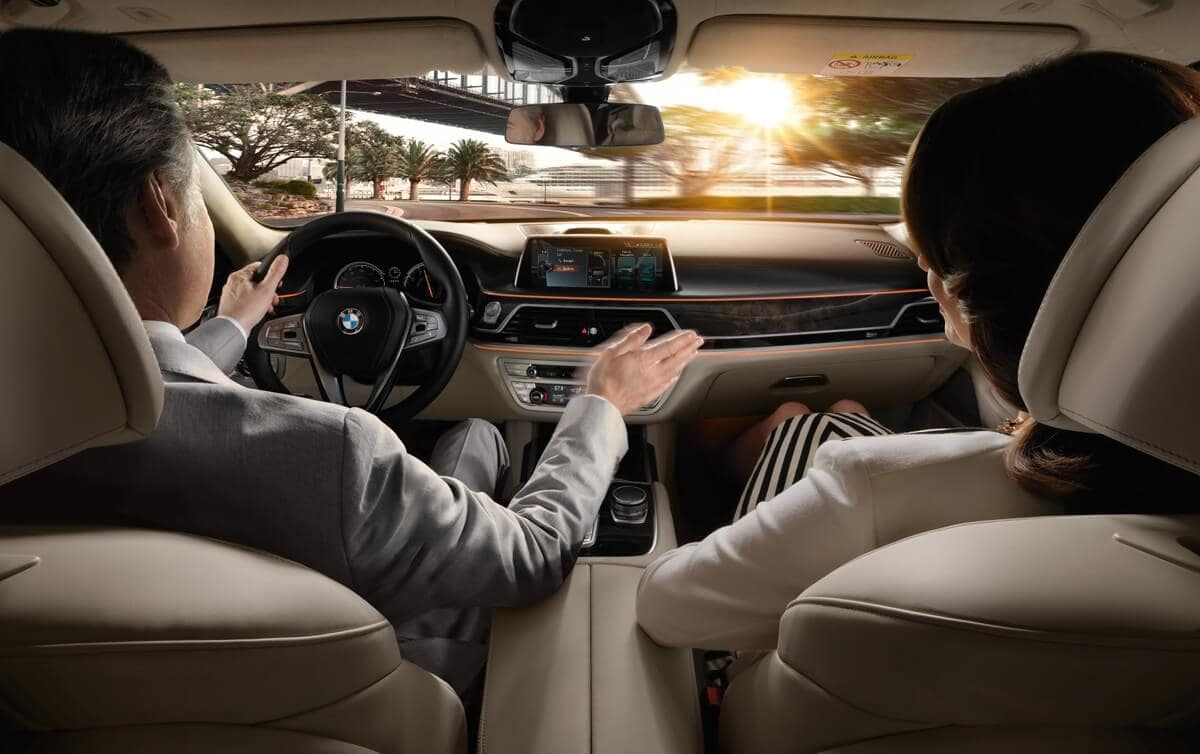 Driving a BMW 7 Series Manhattan NY