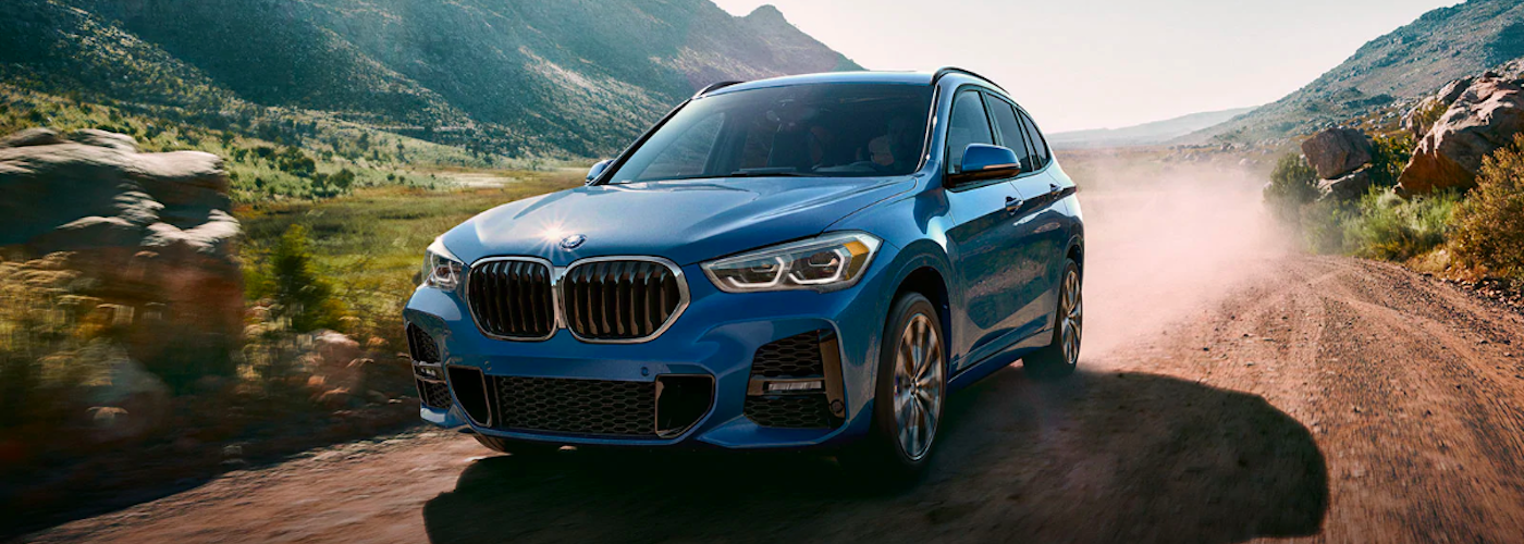 2019 bmw x1 blue exterior driving